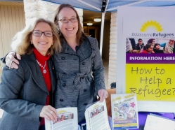 Nancy Speidel, co-founder of Syrian Sweets website, and Debbie Crenshaw, Founder of FB group Syrian Refugee Connection